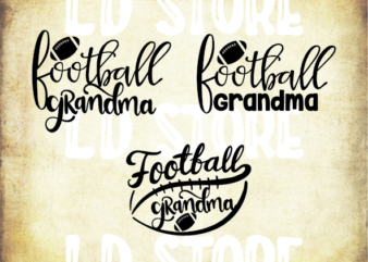 3 styles football grandma svg bundle, football grandma vector, football svg, svg design, football shirt, football mama svg, cut file, football clipart