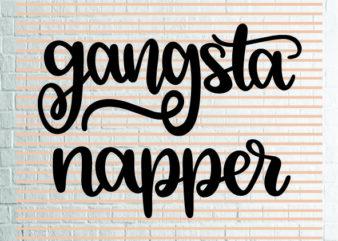 Gangsta Napper SVG – Winter svg – Cookie svg – Christmas SVG – Commercial Use svg, dxf, png and jpg files