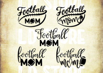 5 styles Football mom svg bundle, football mom, football svg, svg design, football shirt, football mama svg, cut file, football clipart