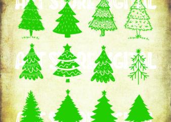 12 Styles Christmas Tree Svg bundle, Christmas tree cut file svg,Tree Christmas Svg,Christmas SVG,christmas tree clipart,Christmas Tree bundle Svg tshirt