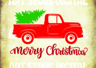 Red Truck Christmas Tree svg, Red Truck svg, Red Truck Christmas svg, Christmas Truck svg, Christmas svg, Christmas svg Files, for Cricut