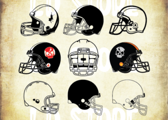 9 styles Football Helmet SVG bundle, Football SVG, Helmet SVG, Football Cut Files, Football Helmet Clipart, Football Helmet Files for Cricut, Football Helmet Cut Files For Silhouette, Dxf, Png, Eps