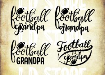 4 styles Football Grandpa svg bundle, Football Grandpa svg, football Grandpa vector, football svg, svg design, football shirt, football mama svg, cut file, football clipart