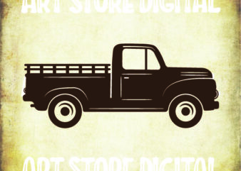 Truck SVG, Red Truck SVG, Vintage Truck, Pickup Truck Clipart, Instant Download Truck Cut File for Cricut, Farm Truck Silhouette, Dxf Eps
