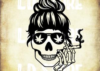 Skull Smoking Cannabis Svg, Bun Hair Skull Smoking Svg, Weed Svg, Smoking Marijuana Svg, Designs Cut Files Cricut Cut Files …