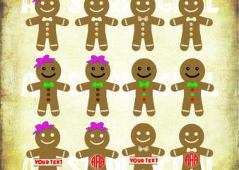 12 styles Gingerbread Cookies (1) svg bundle, Gingerbread SVG, Gingerbread Man SVG, Christmas Cookies Svg, Christmas SVG Clip Arts, Gingerbread Cut Files, Gingerbread Clip Arts