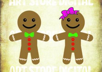 2 styles Gingerbread Cookies (2) svg bundle, Gingerbread SVG, Gingerbread Man SVG, Christmas Cookies Svg, Christmas SVG Clip Arts, Gingerbread Cut Files, Gingerbread Clip Arts
