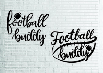2 styles Football Buddy Svg bundle, Football Svg, Football Buddy, Little Buddy Biggest Fan, Game Day Shirt, Football Seams Svg File for Cricut, Png, Dxf