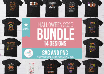 Halloween, Hallowtine 2020. 14 DESIGNS SVG, PNG,Files For Cutting Machines and Transfer Paper.