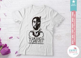 Chadwick Boseman Wakanda Forever SVG PNG PDF Cutting File for Cricut Explore Silhouette Cameo Studio
