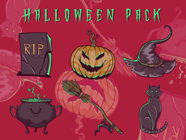 Halloween pack graphic t shirt