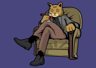 Cat Boss tshirt design for commercial use