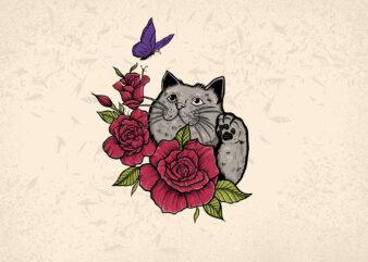 Cat Love cute t-shirt design