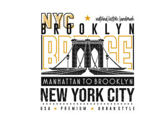 Brooklyn New York City T-shirt Design Graphic Vector. NYC T shirt Designs. Eps svg png