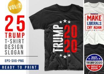 Trump 2020 vector t-shirt design bundle. American slogans t shirt designs pack collection. American re-election campaign. Eps svg png file