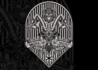 Moto Skull T-shirt Design