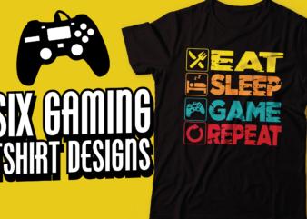 gaming bundle six t-shirt design | gaming tshirt design