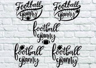5 styles Football Granny svg bundle, Football Granny svg, football Granny vector, football svg, svg design, football shirt, football mama svg, cut file, football clipart