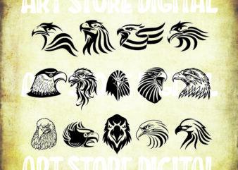20 styles eagle svg bundle, eagle bundle svg,eagle face svg,eagle head svg,eagle silhouette,eagle clipart,eagle vector,eagle png,eagle dxf
