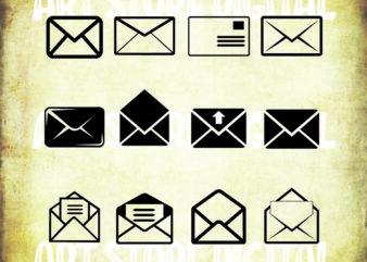 12 styles Envelope SVG Bundle, Mail SVG, Envelope Clipart, Envelope Cut Files For Silhouette, Files for Cricut, Envelope Vector, Svg, Dxf, Png, Design