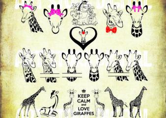 19 styles giraffe svg ,giraffe clipart ,giraffe cut file,giraffe svg file,baby giraffe svg,giraffe silhouette,giraffe vector
