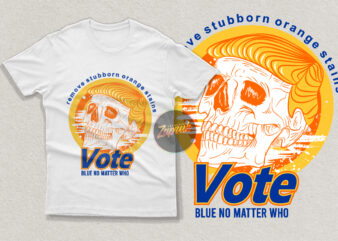 Skull Anti-trump remove stubborn orange stain – tshirt design for sale