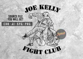 Joe Kelly fight club artwork – tshirt design for sale