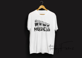 Music IS Not To Hear It IsTo Type T shirt Design