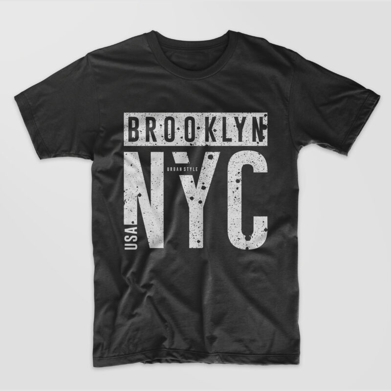 Brooklyn NYC T-shirt Design. New York City Urban Style T shirt Designs Graphic Vector. eps svg png