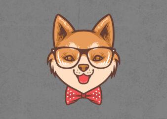 cute shiba inu T-shirt design