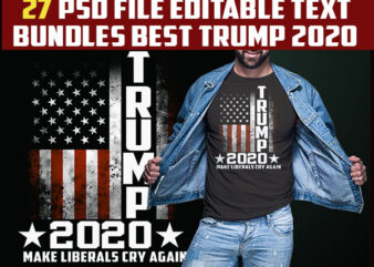 27 trump 2020 best bundles tshirt design completed with PSD File editable text