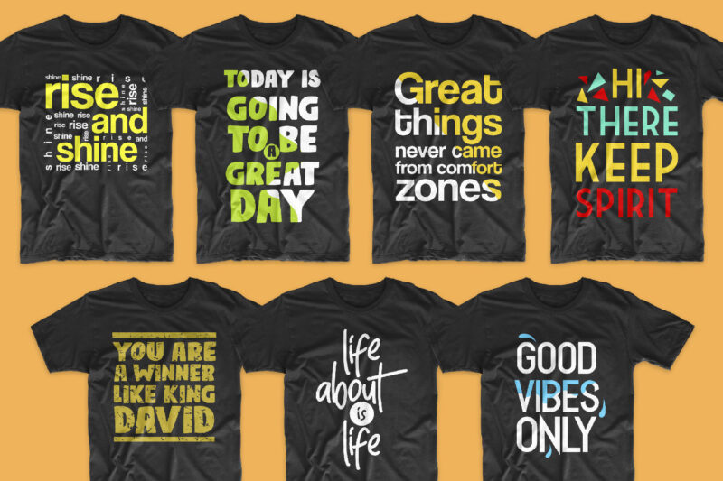 143 Big bundle t-shirt design creative slogan and quotes. Motivational, inspirational, Funny, unique, urban style, typography sayings t shirts designs pack collection