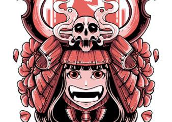 SAMURAI GIRL TSHIRT DESIGN