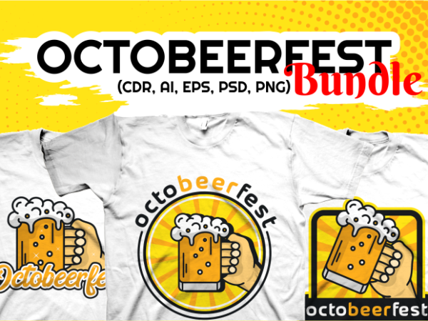 Octobeerfest T-Shirt Designs Bundle