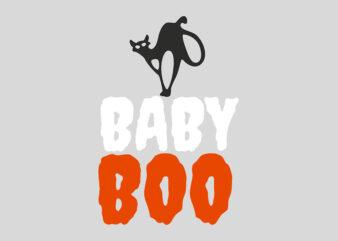 Baby Boo Cat Halloween