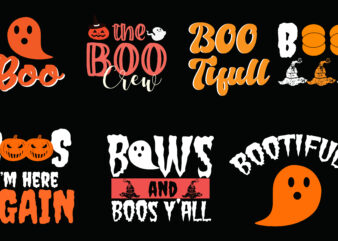 25 Halloween Tshirt Design Bundle