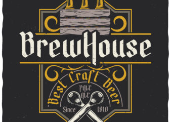 Best Craft Beer. Editable t-shirt design.