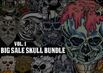 BIG SALE SKULL BUNDLE t shirt template