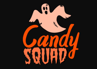 Candy Squad Halloween t shirt vector file