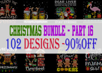 Christmas Bundle 16 – 102 designs – 90% OFF