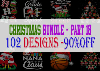 Christmas Bundle 18 – 102 designs – 90% OFF