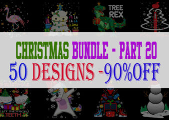 Christmas Bundle 20 – 50 designs – 90% OFF