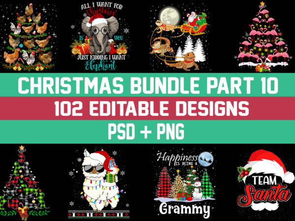 Christmas Bundle 10 – 101 designs – 90% OFF