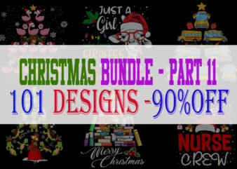 Christmas Bundle 11 – 101 designs – 90% OFF