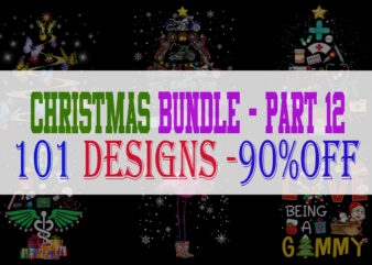 Christmas Bundle 12 – 101 designs – 90% OFF