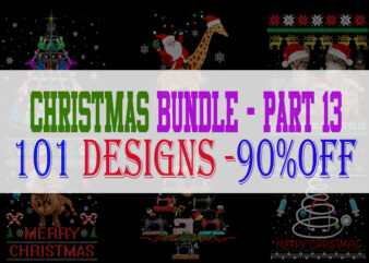 Christmas Bundle 13- 101 designs – 90% OFF