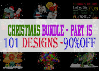 Christmas Bundle 15 – 101 designs – 90% OFF