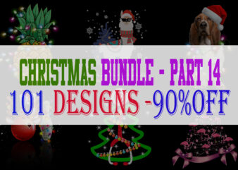 Christmas Bundle 14 – 101 designs – 90% OFF