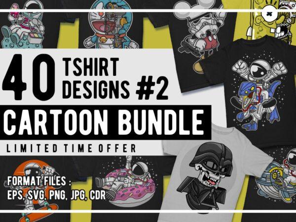 40 cartoon tshirt designs bundle #2