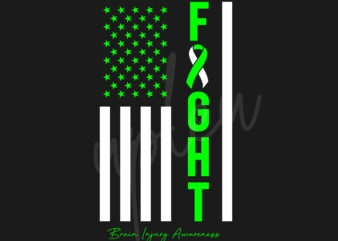 Brain Injury SVG, Brain Injury Awareness SVG, Green Ribbon SVG, Fight Flag svg,Fight Cancer svg, Awareness Tshirt svg, Digital Files